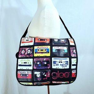Large Glee Retro Cassette Tape Messenger Bag